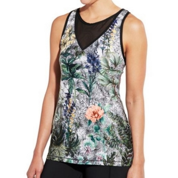 CALIA by Carrie Underwood Tops - Calia Carrie Underwood Limited Fleuria Mesh Tank
